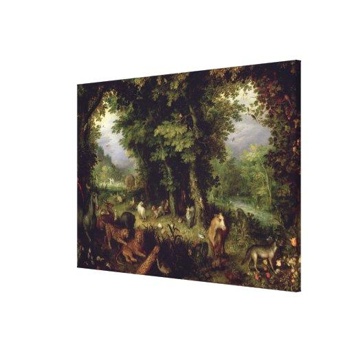 Conecte a tierra o el paraíso terrestre, 1607-08 ( impresion en lona