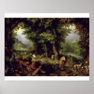 Conecte a tierra o el paraíso terrestre, 1607-08 ( póster