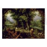 Conecte a tierra o el paraíso terrestre, 1607-08 ( tarjetas