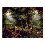 Conecte a tierra o el paraíso terrestre, 1607-08 ( tarjeta postal