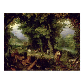 Conecte a tierra o el paraíso terrestre, 1607-08 tarjetas postales
