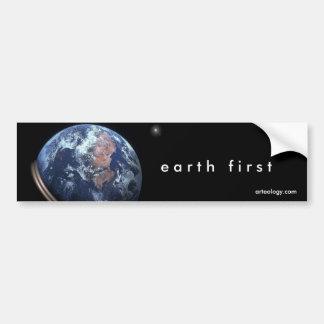 conecte a tierra primero etiqueta de parachoque