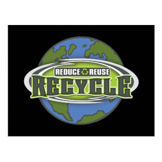 Conecte a tierra reducen, reutilizan y reciclan tarjeta postal