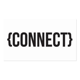 Conecte - acorchetado - blanco y negro tarjetas de visita