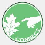 Conecte con la naturaleza etiqueta redonda