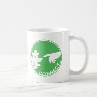 Conecte con la naturaleza taza de café