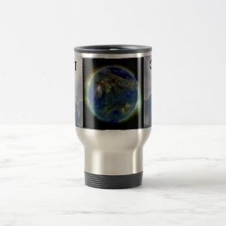 conecte con la taza del viaje de la tierra