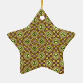 Conecte los puntos adorno navideño de cerámica en forma de estrella