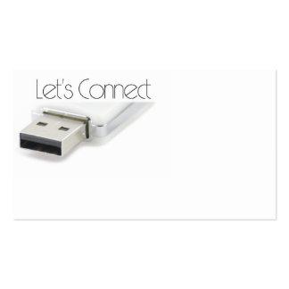 Conectemos USB Tarjetas De Visita