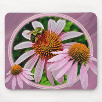 Coneflower and Bee Mouse Pad