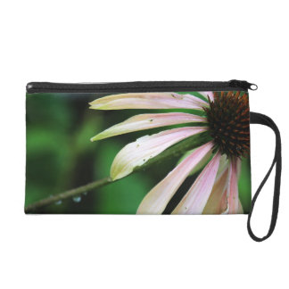 Coneflower And Bumble Bee Wristlet Purse