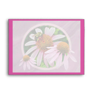 Coneflower & Bee Save the Date Envelope