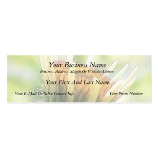 Coneflower Bud Double-Sided Mini Business Cards (Pack Of 20)