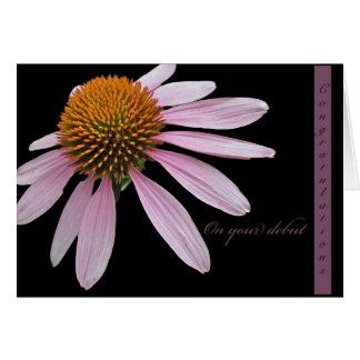 Coneflower Debut Congratulations Items Card