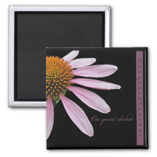 Coneflower Debut Congratulations Items Magnet