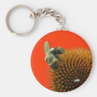 Coneflower & Eastern Carpenter Bee Items Keychain