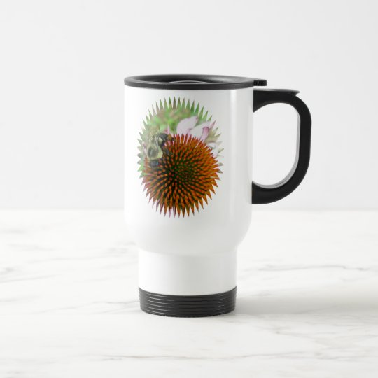 Coneflower & Eastern Carpenter Bee Items Travel Mug