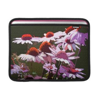 Coneflower florece la manga del carrito fundas para macbook air