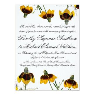 Coneflower Garden Flower Floral Wedding Invitation