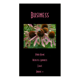 Coneflower Pink Bee Double-Sided Standard Business Cards (Pack Of 100)