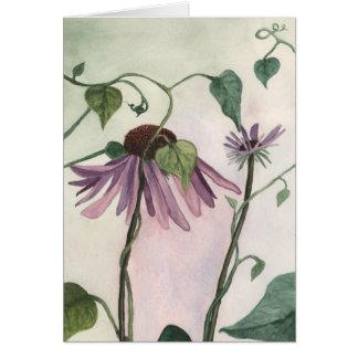 Coneflower púrpura Notecard Tarjeta Pequeña