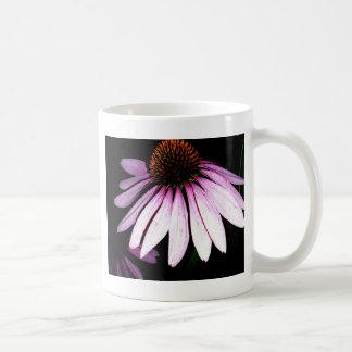 Coneflower púrpura taza de café