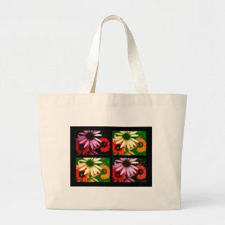 Coneflower Quad Large Tote Bag