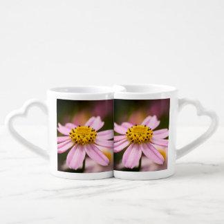 Coneflower rosado set de tazas de café