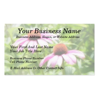 Coneflower Twins Double-Sided Standard Business Cards (Pack Of 100)