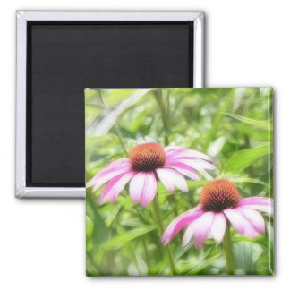 Coneflower Twins Magnet