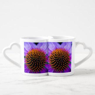 Coneflower vibrante set de tazas de café