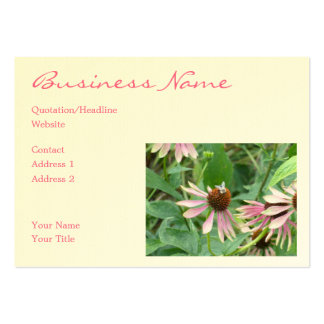Coneflowers Pink Garden Large Business Cards (Pack Of 100)