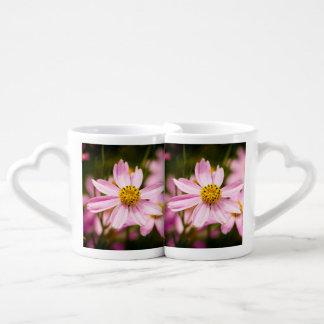 Coneflowers rosado set de tazas de café