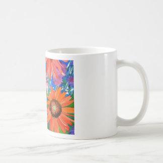 Coneflowers rosado y rojo taza de café