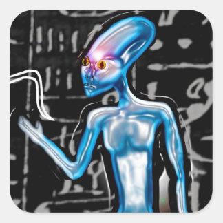 Conehead Alien Sticker
