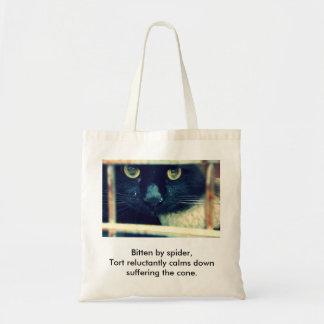 Conehead Cat Haiku Tote Bag