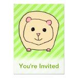 Conejillo de Indias, animal del dibujo animado Invitación 12,7 X 17,8 Cm