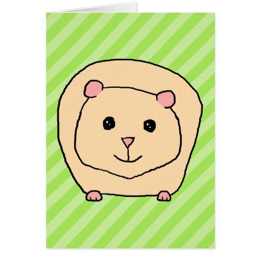 Conejillo de Indias, animal del dibujo animado Tarjeta De Felicitación