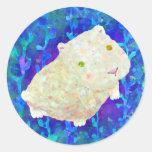 conejillo de Indias blanco Etiquetas Redondas