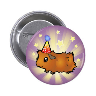 Conejillo de Indias del cumpleaños (desaliñado) Pin Redondo 5 Cm