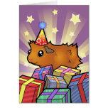 Conejillo de Indias del cumpleaños (desaliñado) Tarjeton