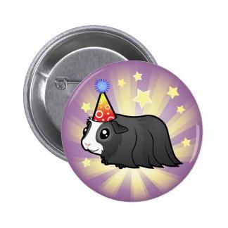Conejillo de Indias del cumpleaños (pelo largo) Pin Redondo 5 Cm