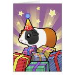 Conejillo de Indias del cumpleaños (pelo liso) Felicitación