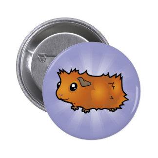 Conejillo de Indias del dibujo animado (desaliñado Pin Redondo 5 Cm