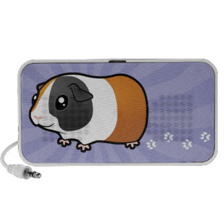 Conejillo de Indias del dibujo animado (pelo liso) Laptop Altavoces