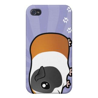 Conejillo de Indias del dibujo animado (pelo liso) iPhone 4 Cárcasa
