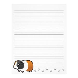 Conejillo de Indias del dibujo animado (pelo liso) Plantilla De Membrete