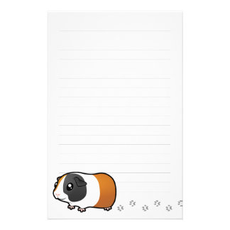 Conejillo de Indias del dibujo animado (pelo liso) Papeleria De Diseño