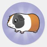 Conejillo de Indias del dibujo animado (pelo liso) Etiqueta Redonda