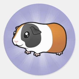 Conejillo de Indias del dibujo animado pelo liso Etiqueta Redonda